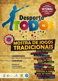 Jornada de divulgação dos jogos tradicionais e caminhada em Setúbal<br> Promover e divulgar os jogos tradicionais portugueses