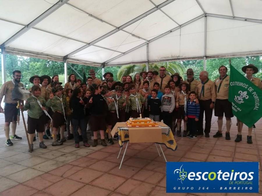 6103a2e723 Barreiro - Associação dos Escoteiros de Portugal Grupo 264 comemora 1º  aniversário