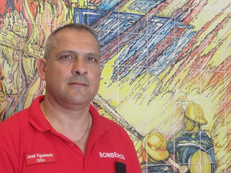 José Figueiredo, Bombeiros Voluntários do Barreiro<br /> «A minha maior alegria é estar a comandar este corpo de bombeiros»