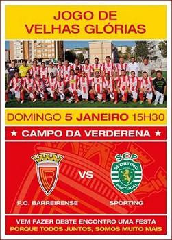 No Campo da Verderena - Barreiro<br> FC Barreirense - Sporting CP<br> . O encontro de Velhas Glórias